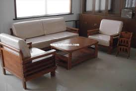 awesome picture of simple wooden sofa design for drawing room
