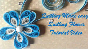 quilling made easy how to make beautiful flower design using