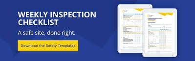 how to use a weekly inspection checklist in construction