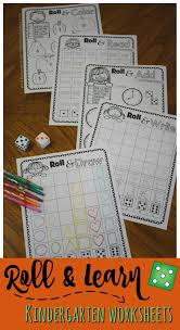 kindergarten worksheets and games free roll u0026 learn kindergarten