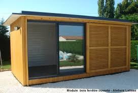 bureau de jardin en kit module bois indépendant pour extension dans le jardin bureau
