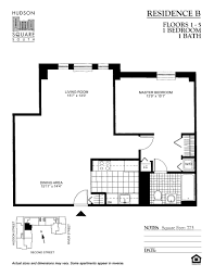 Terminal 5 Floor Plan by Hudson Square South Downtown Hoboken Rentals