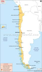 Los Angeles Airport Map by Airports In Chile Chile Airports Map