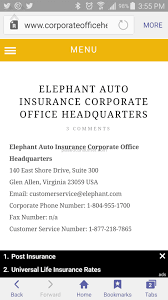 elephant auto insurance claims phone number 44billionlater