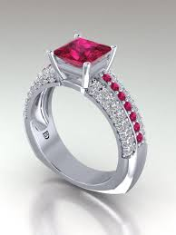 ruby and engagement rings princess cut ruby engagement rings ruby engagement rings
