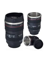 Best Mug by Excluzy Camera Lens Shaped Black Coffee Tea Mug Gifts For
