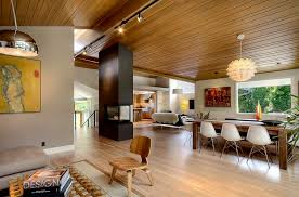wood home interiors mid century modern style design guide ideas photos