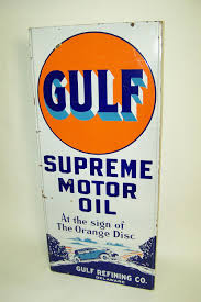 gulf oil logo extremely hard to find early 1930s gulf supreme motor oil sin 97155