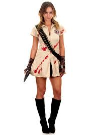 women u0027s zombie hunter costume killer scout escapade uk