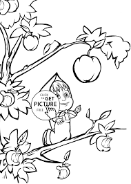 and bear apple coloring pages for kids printable free