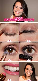 valentine s day makeup how to pretty shimmery eye