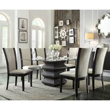 glass top dining room set glass top dining room table sets
