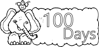elephant 100 days coloring page wecoloringpage