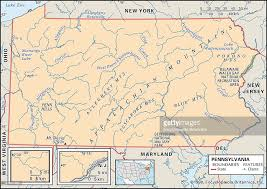 Pennsylvania mountains images Physical map of pennsylvania pictures getty images