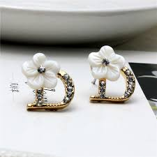 earrings brand 2016 new brand fashiion jewelry letter dd gold stud earrings