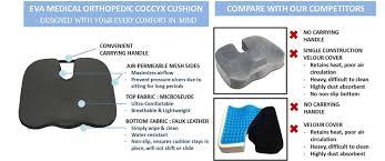 Cushion Construction Amazon Com Vaunn Medical Orthopedic Coccyx Cushion Health