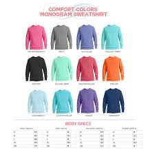 monogram comfort colors sweatshirt personalized comfort