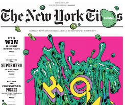 the new york times publishes a regular new york times kids section and a kids version of the