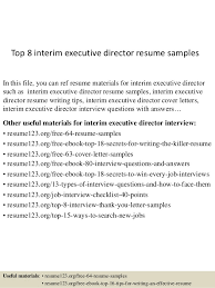 Executive Director Resume Example by Top 8 Interim Executive Director Resume Samples 1 638 Jpg Cb U003d1431830662