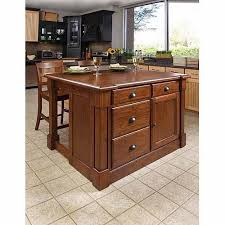 kitchen islands stools home styles aspen rustic cherry kitchen island and 2 bar stools