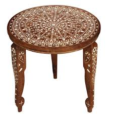 wholesale 12 u201d handmade wooden side table with round top