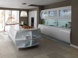 Kitchen Color Schemes by White Painted Cherry Wood Kitchen Island Grey Painted Wooden