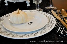 diy make your own halloween dinnerware brooklyn limestone