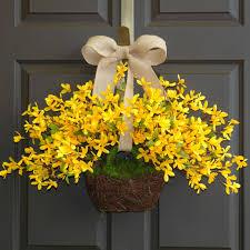 front door wreath ideas spring wreath easter wreaths yellow forsythia wreath front door