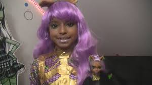 halloween wigs party city monster high costume ghouls rule clawdeen wolf youtube