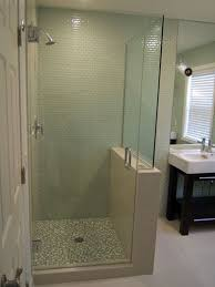 Half Shower Doors Half Wall Shower Enclosures Belfast Four Enclosure With