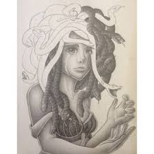 my medusa drawing for my ap portfolio this is taking a whole