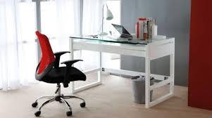 sleek desk sleek office desk glass top with white gloss frame furniture