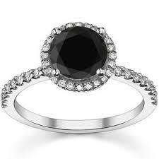 white gold eternity ring 1 carat black diamond engagement wedding halo eternity ring 14k