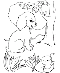 with puppy coloring pages to download and print for free