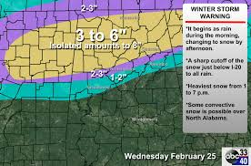 Alabama Time Zone Map Big Snow For North Alabama The Alabama Weather Blog
