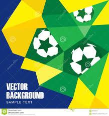 Flag Football Play Designer Abstract Modern Polygon Background In Brazilian Fl Stock Vector