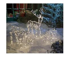 Christmas Deer Lawn Decorations by Lighted Christmas Reindeer Outdoor Decorations U2013 Decoration Image Idea