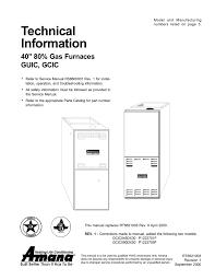 amana gci technical information