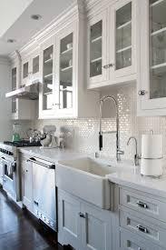 dark kitchen cabinets subway tile backsplash marble subway tile
