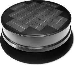 ventilate with a solar powered attic fan yellowblue