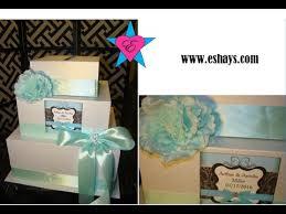 Wedding Gift Card Diy Custom Tiffany Blue Wedding Gift Card Box By Eshays Youtube