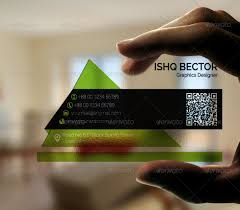 transparent business card by tanishqbd graphicriver