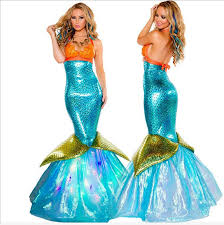 Ariel Mermaid Halloween Costume Adults Cheap Mermaid Ariel Costume Aliexpress Alibaba Group