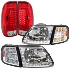2002 ford f150 tail lights ford f150 1997 2003 clear headlights led drl signal led tail lights