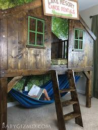 Cottage Loft Bed Plans by Learn How To Build An Awesome Clubhouse Fort Bed For The Kids