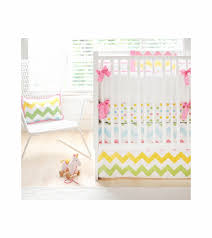 Zig Zag Crib Bedding Set New Arrivals Zig Zag Rainbow 3 Baby Crib Bedding Set