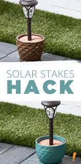 wilson and fisher solar lights instead of staking your solar stakes in the ground put them in a