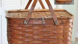 vintage picnic basket antique vintage basket price guide adirondack girl heart