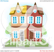 clipart townhouse duplex building royalty free vector