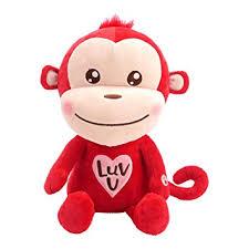 valentines day stuffed animals hallmark monkey plush stuffed animal with sound